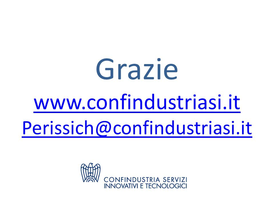 Grazie www.confindustriasi.it Perissich@confindustriasi.it