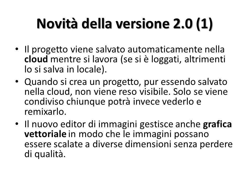 Novità della versione 2.0 (1)