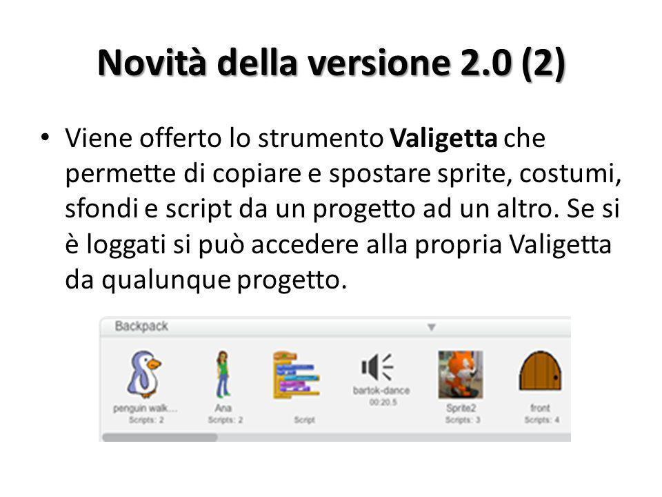 Novità della versione 2.0 (2)