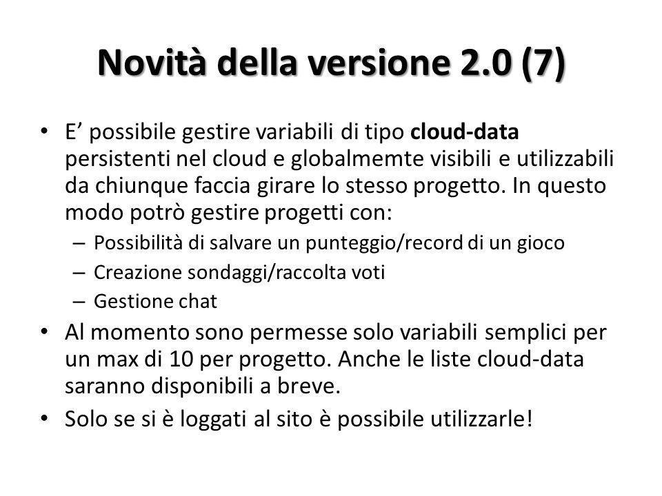 Novità della versione 2.0 (7)
