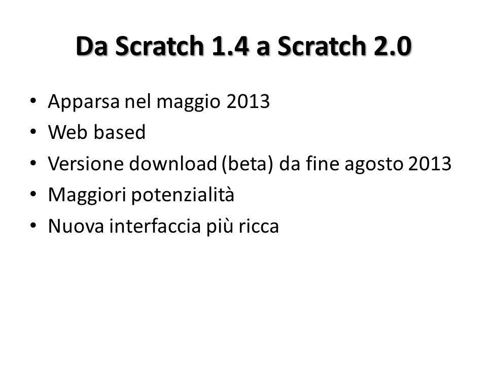 Da Scratch 1.4 a Scratch 2.0 Apparsa nel maggio 2013 Web based