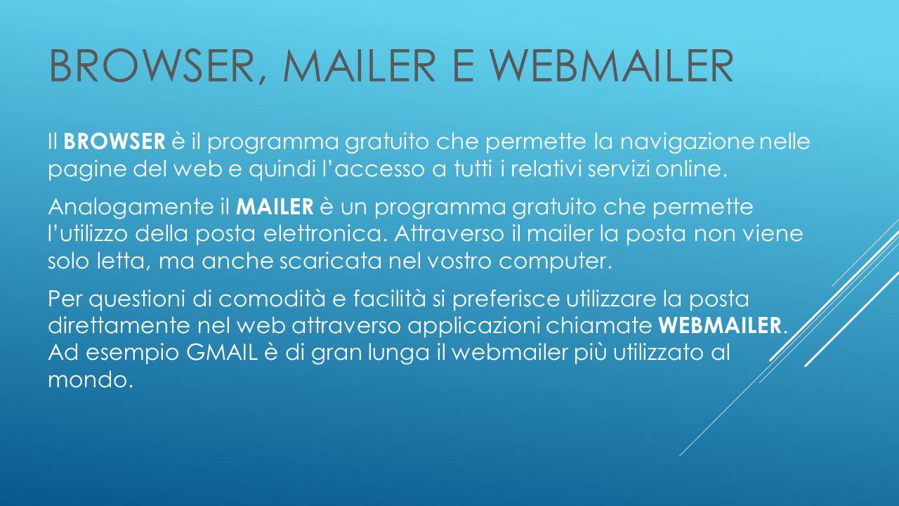 BROWSER, MAILER e WEBMAILER