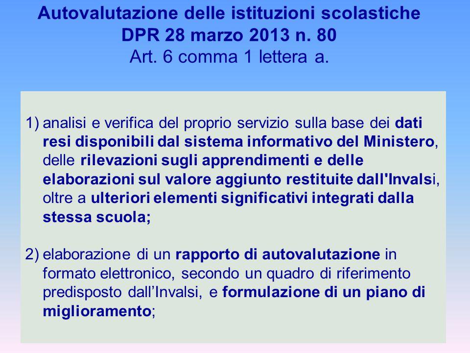Autovalutazione delle istituzioni scolastiche