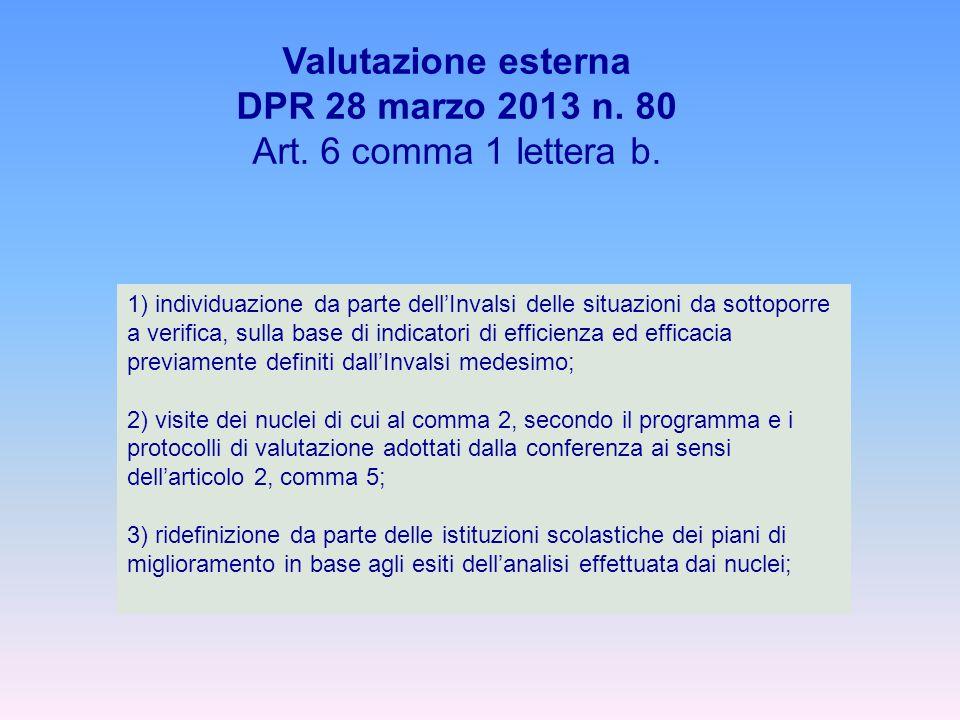 Valutazione esterna DPR 28 marzo 2013 n. 80