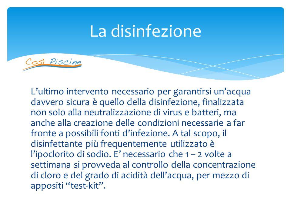 La disinfezione
