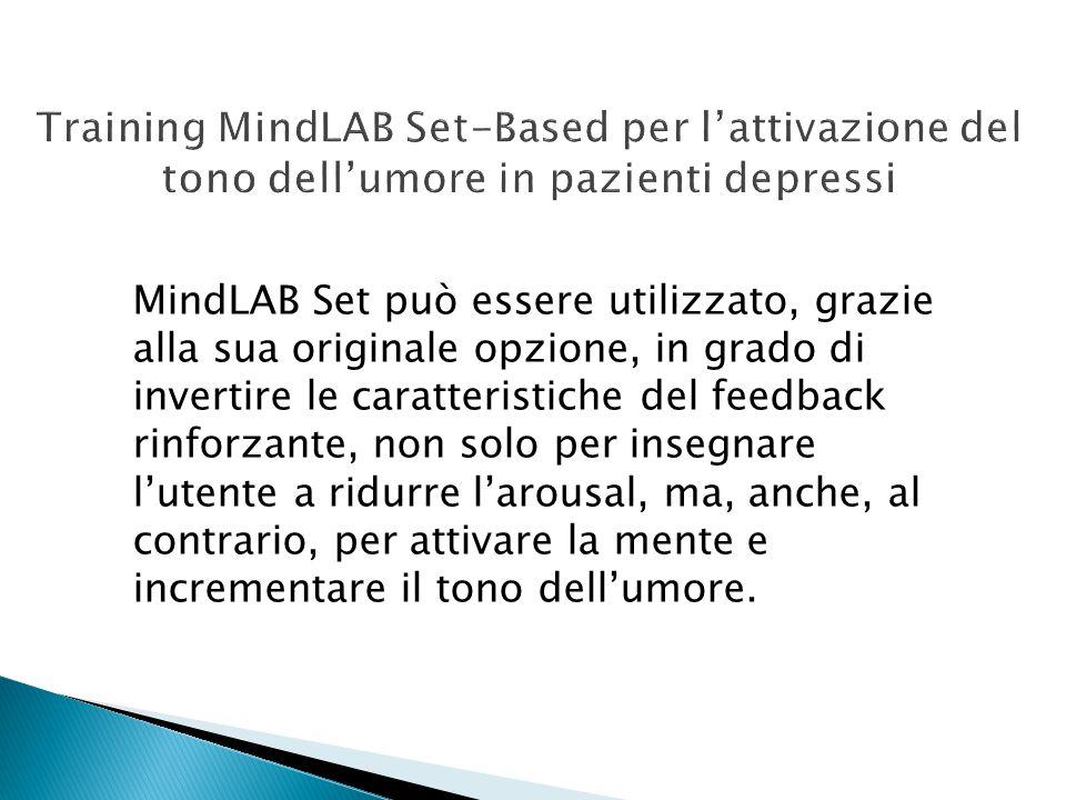 Training MindLAB Set-Based per l'attivazione del tono dell'umore in pazienti depressi