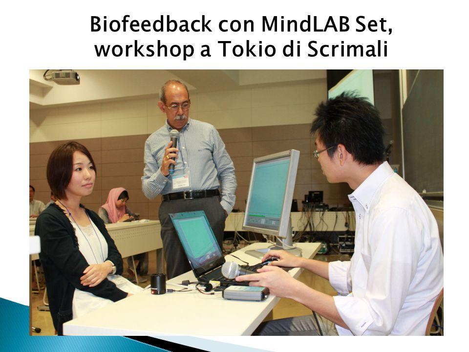 Biofeedback con MindLAB Set, workshop a Tokio di Scrimali