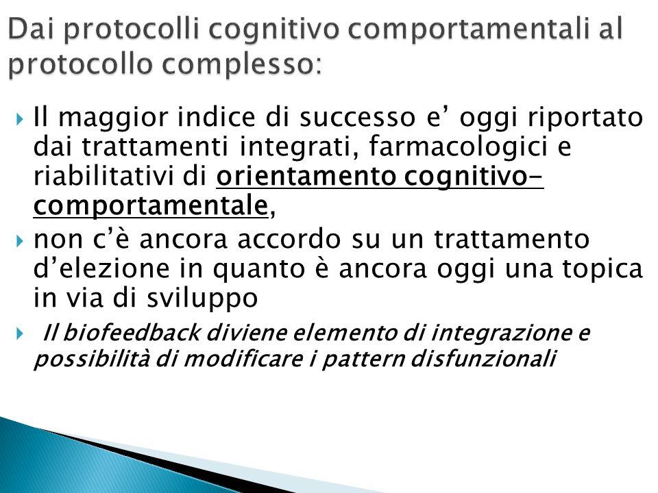 Dai protocolli cognitivo comportamentali al protocollo complesso: