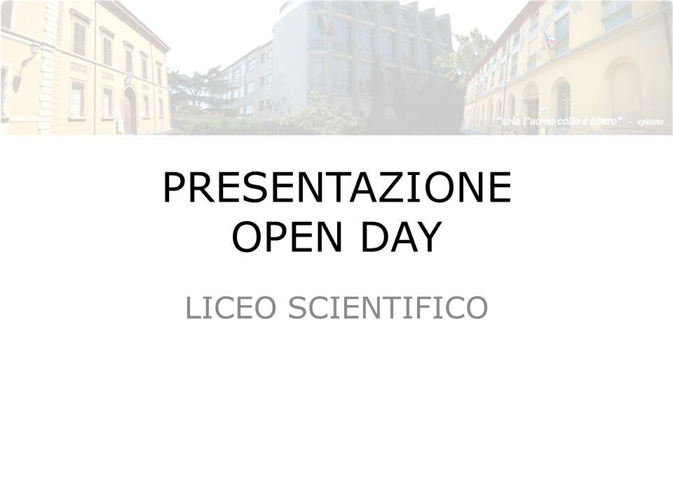 PRESENTAZIONE OPEN DAY