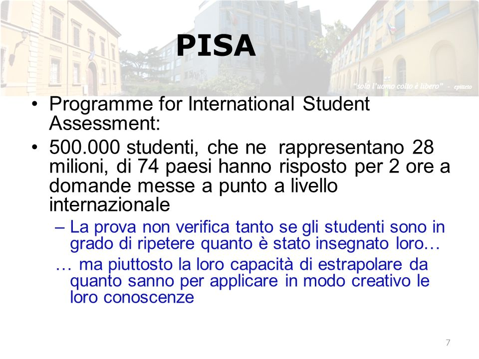 PISA Programme for International Student Assessment: