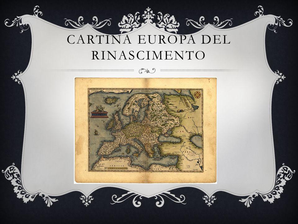 Cartina europa del rinascimento
