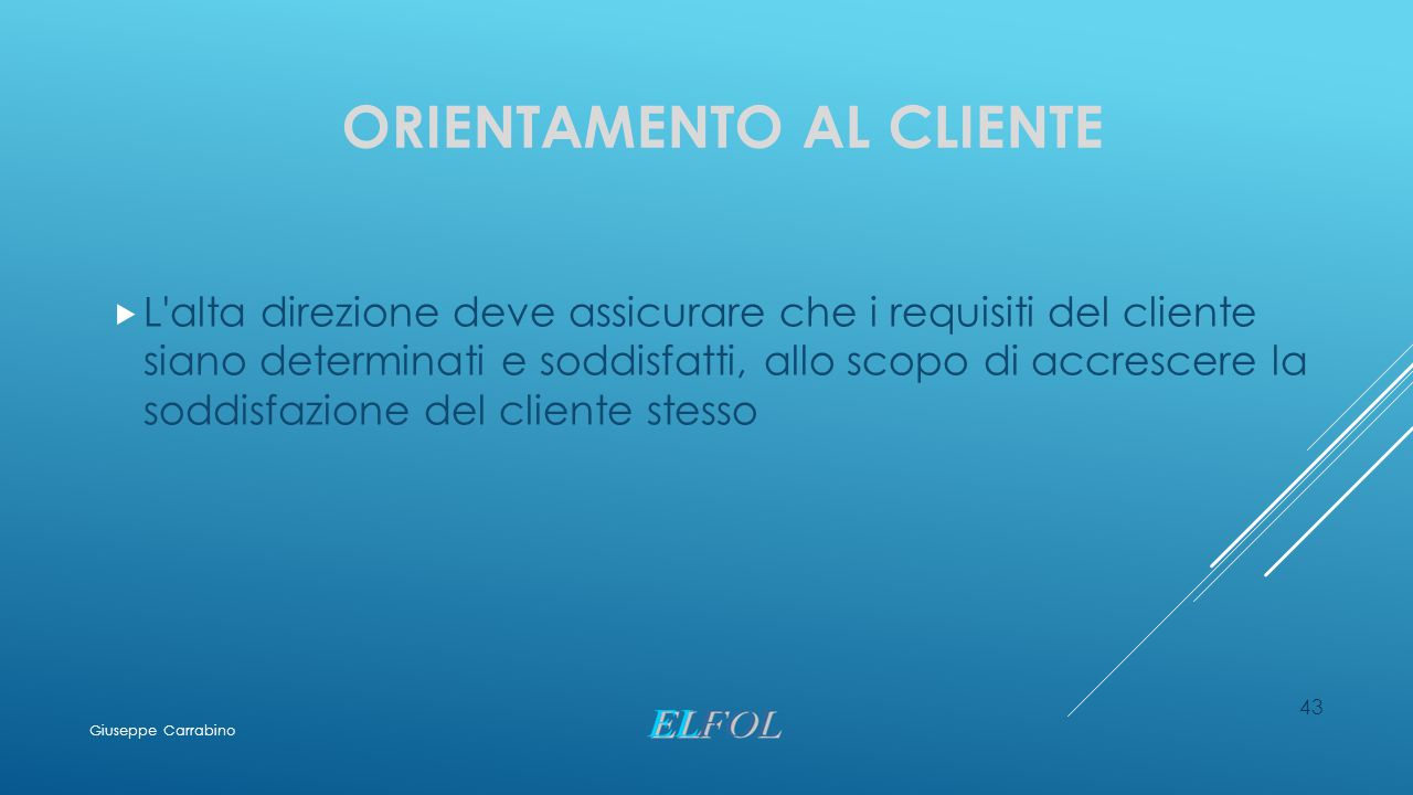 Orientamento al cliente