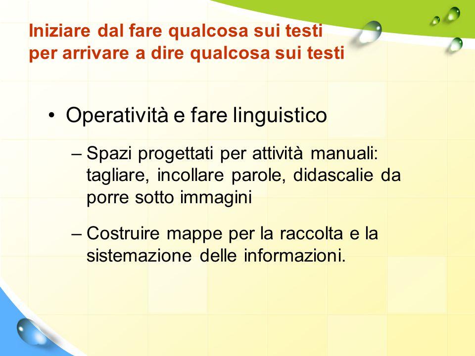 Operatività e fare linguistico