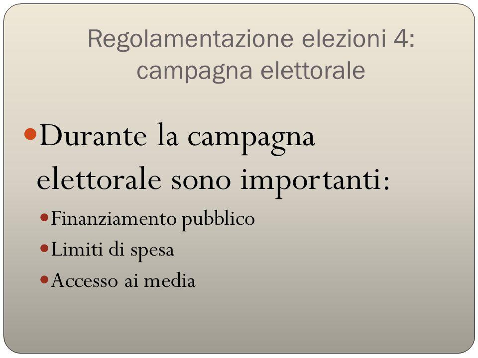 Regolamentazione elezioni 4: campagna elettorale