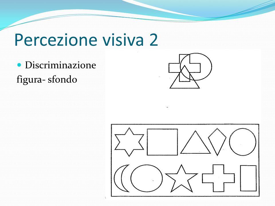 Percezione visiva 2 Discriminazione figura- sfondo