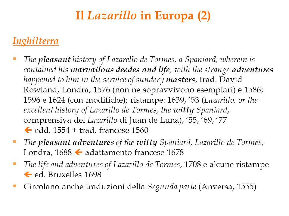 Il Lazarillo in Europa (2)