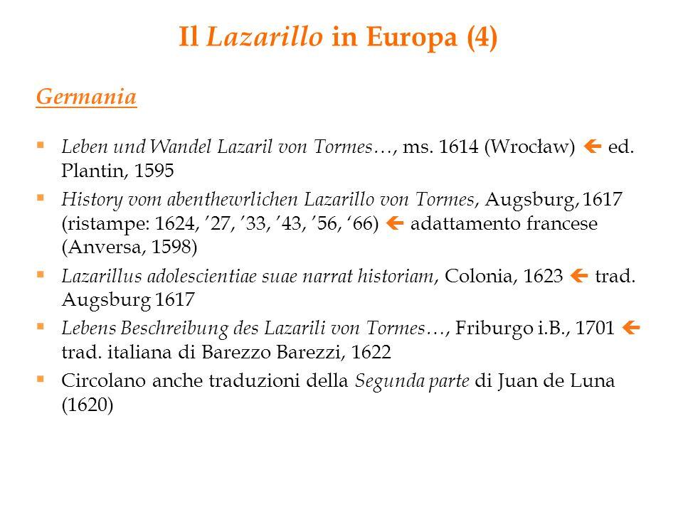 Il Lazarillo in Europa (4)