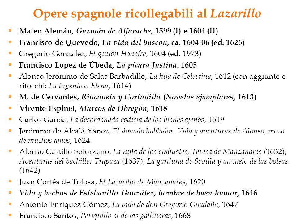 Opere spagnole ricollegabili al Lazarillo