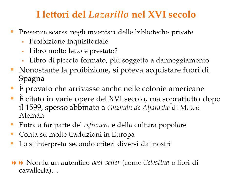 I lettori del Lazarillo nel XVI secolo