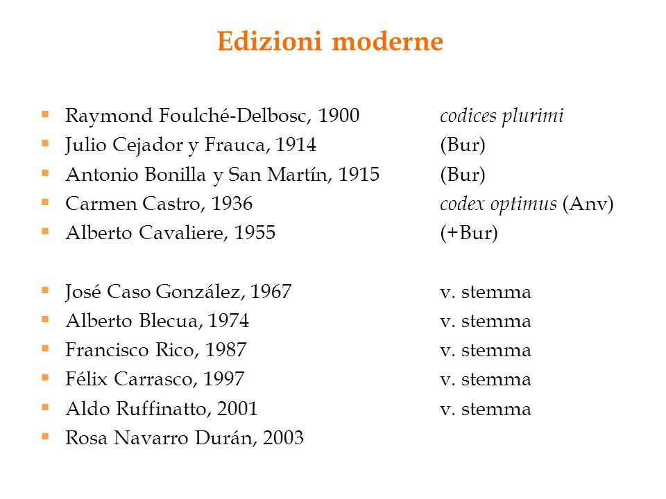 Edizioni moderne Raymond Foulché-Delbosc, 1900 codices plurimi
