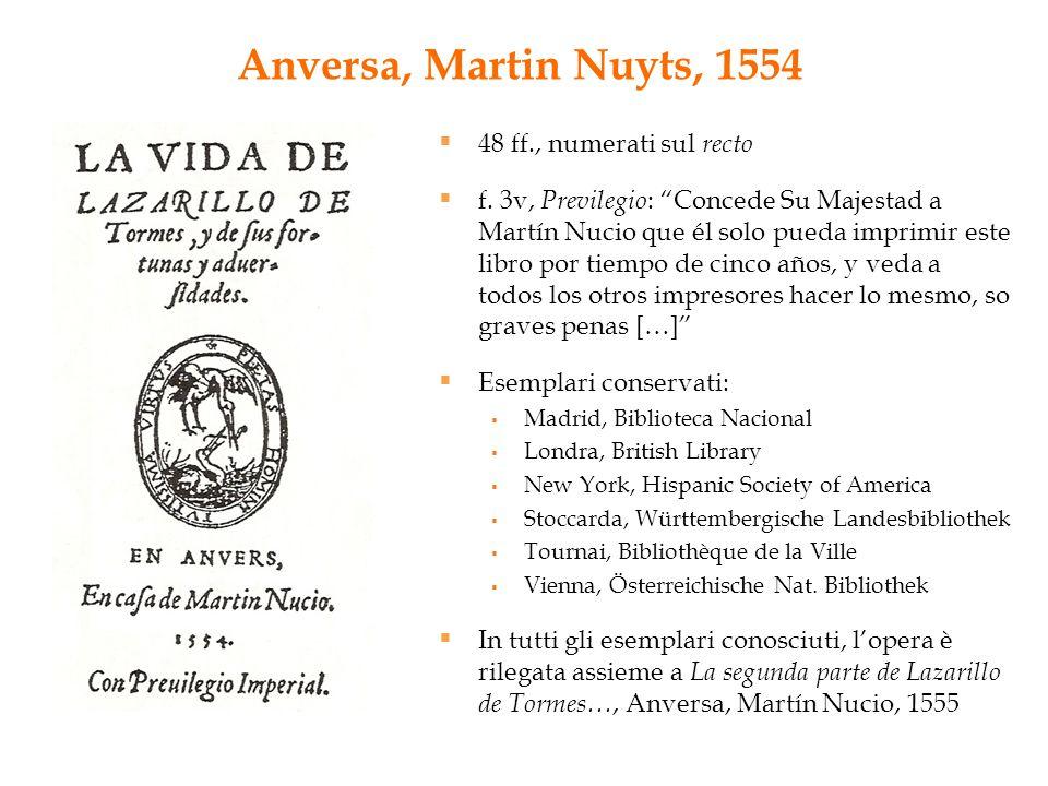 Anversa, Martin Nuyts, 1554 48 ff., numerati sul recto