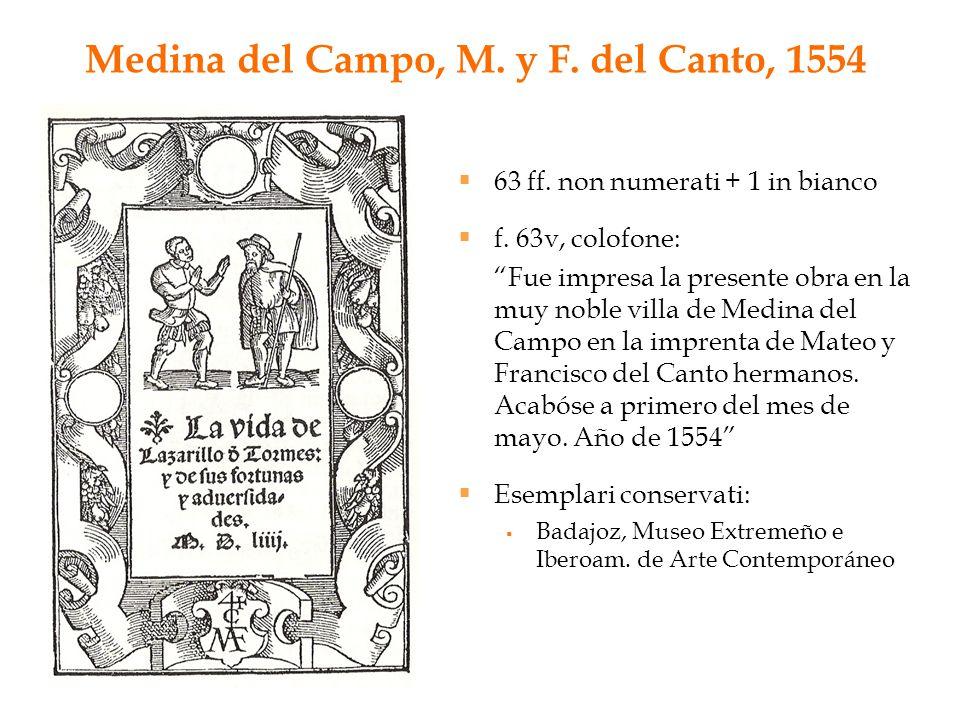 Medina del Campo, M. y F. del Canto, 1554