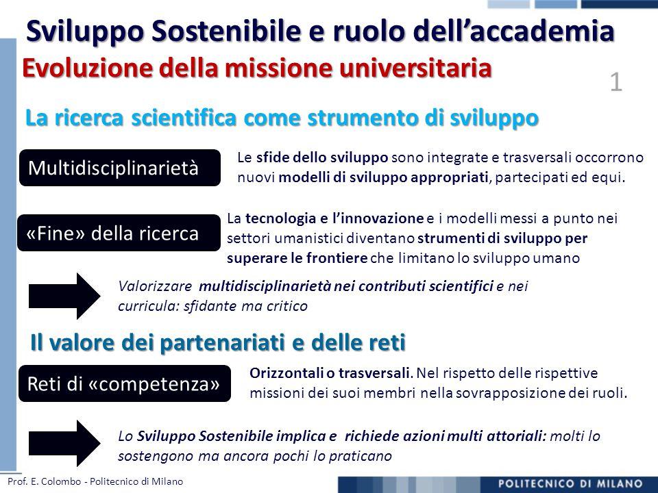 Sviluppo Sostenibile e ruolo dell'accademia