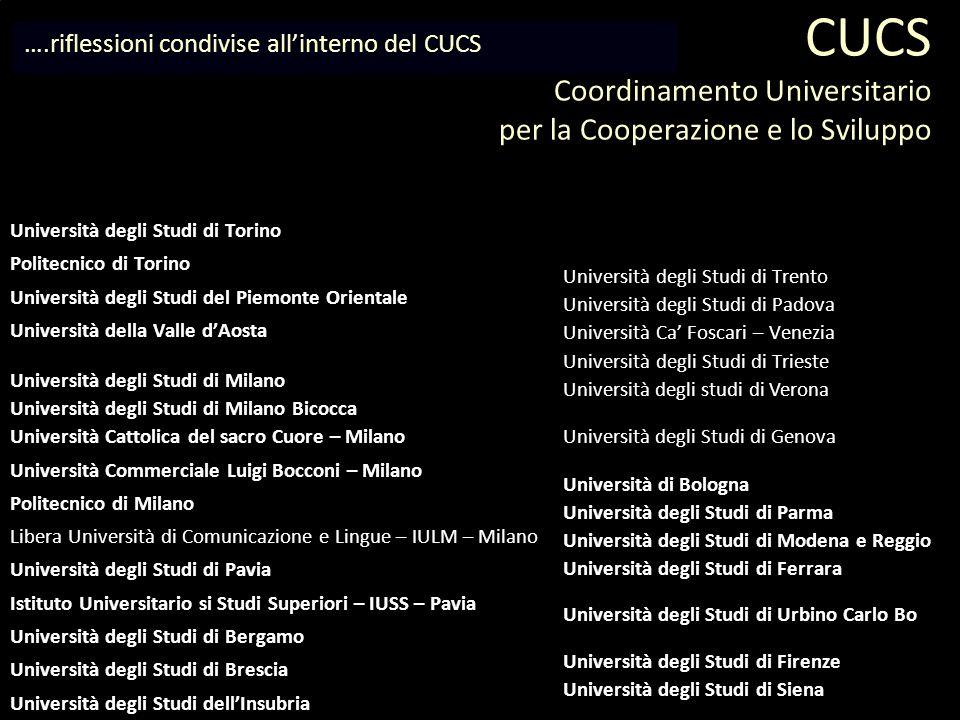 CUCS Coordinamento Universitario per la Cooperazione e lo Sviluppo
