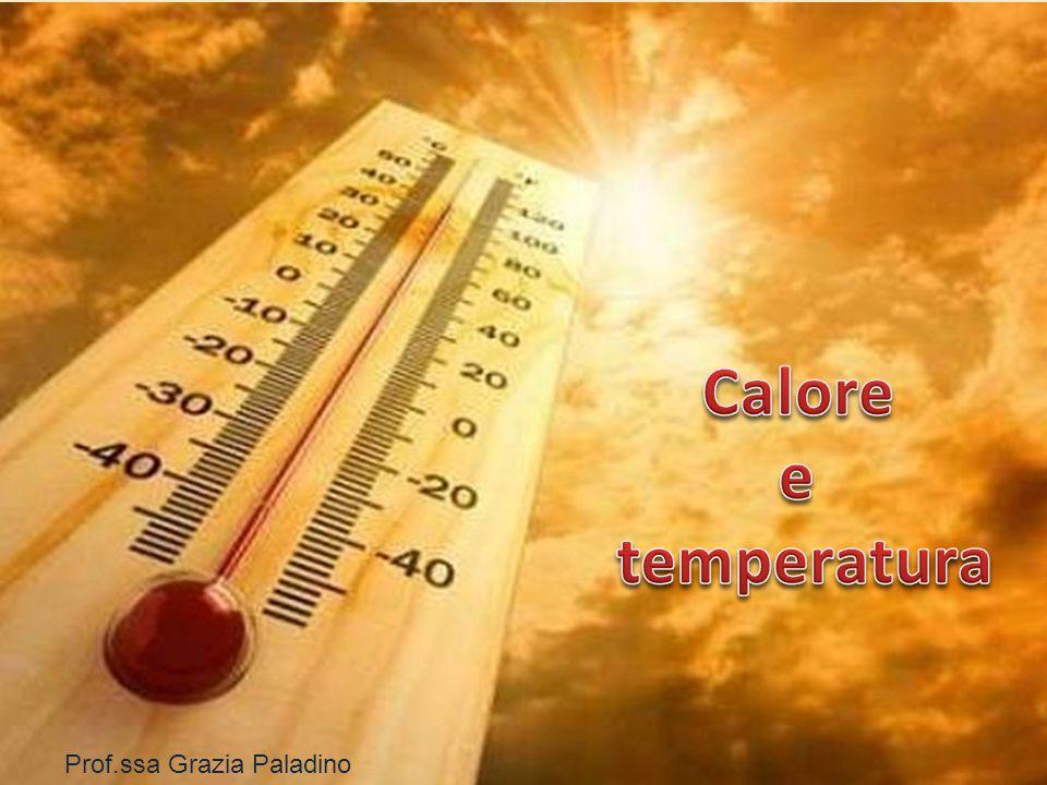 Calore e temperatura Prof.ssa Grazia Paladino