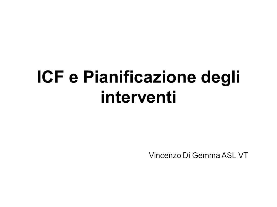 ICF e Pianificazione degli interventi