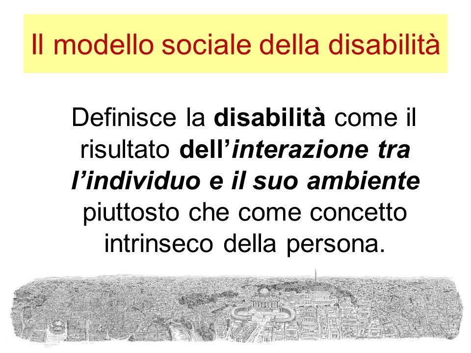 Il modello sociale della disabilità