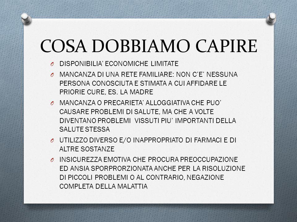 COSA DOBBIAMO CAPIRE DISPONIBILIA' ECONOMICHE LIMITATE
