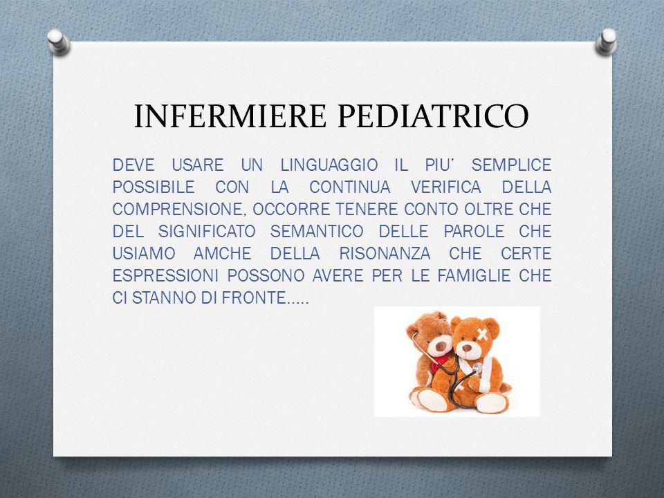 INFERMIERE PEDIATRICO