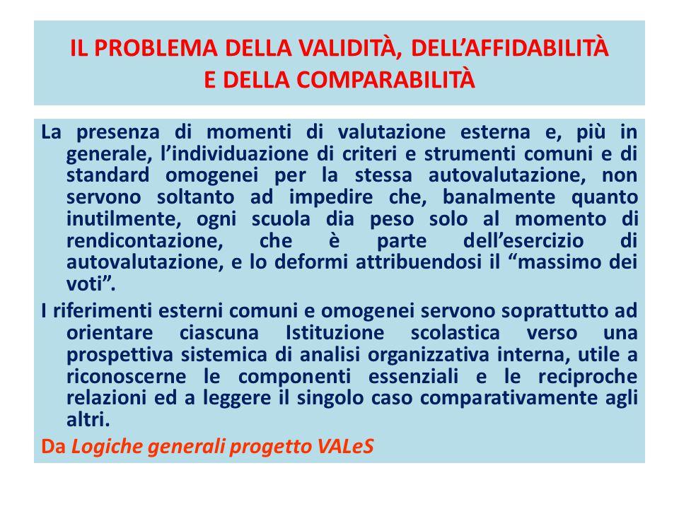 IL PROBLEMA DELLA VALIDITÀ, DELL'AFFIDABILITÀ E DELLA COMPARABILITÀ