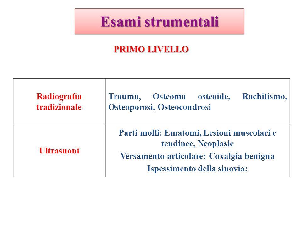 Esami strumentali PRIMO LIVELLO Radiografia tradizionale