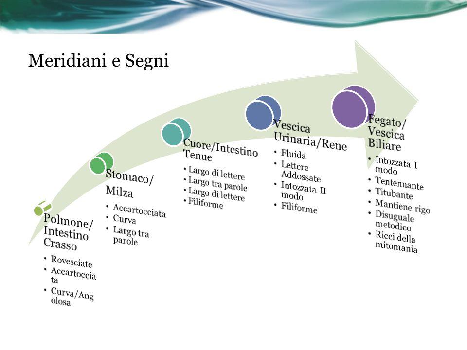 Meridiani e Segni Fegato/ Vescica Biliare Vescica Urinaria/Rene