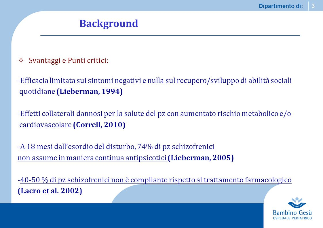 Background Svantaggi e Punti critici: