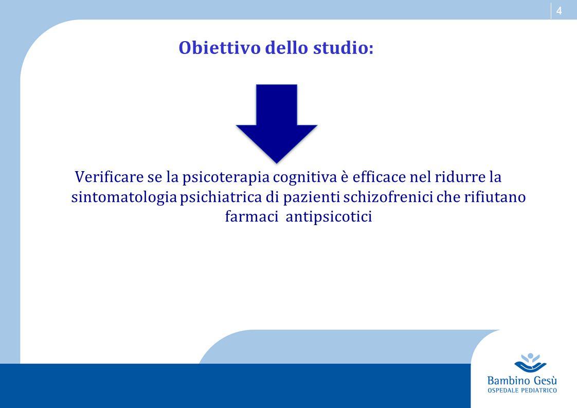 Obiettivo dello studio: