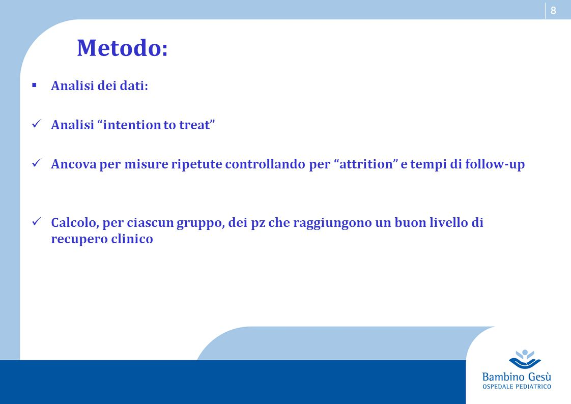 Metodo: Analisi dei dati: Analisi intention to treat