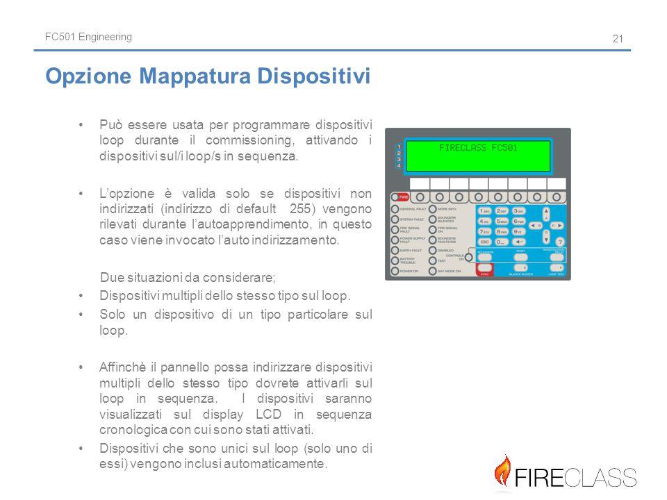 Opzione Mappatura Dispositivi