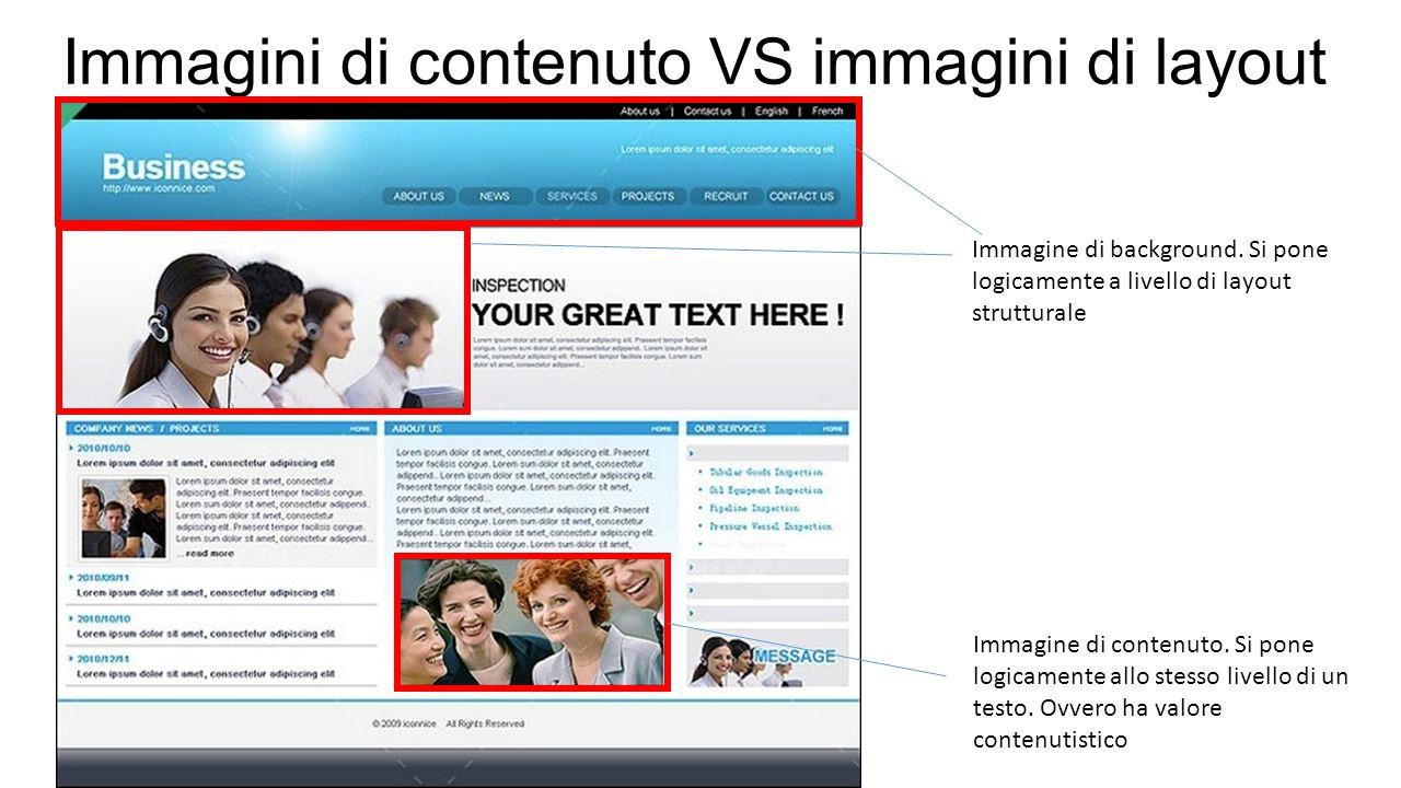 Immagini di contenuto VS immagini di layout