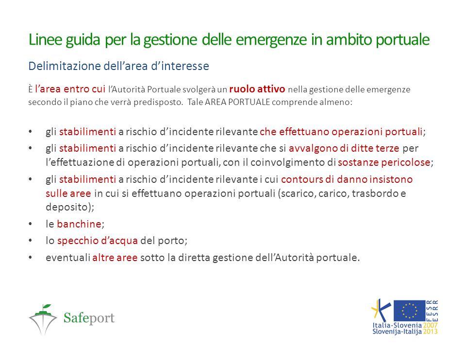 Linee guida per la gestione delle emergenze in ambito portuale