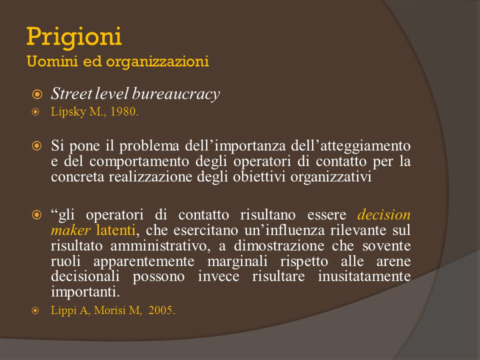 Prigioni Uomini ed organizzazioni