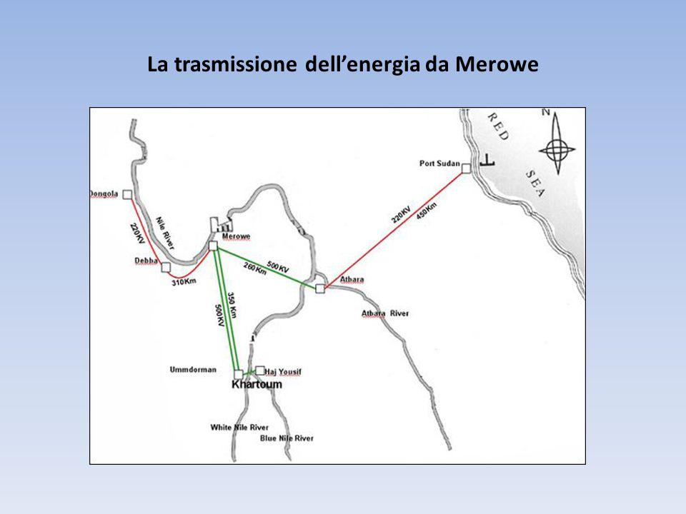 La trasmissione dell'energia da Merowe
