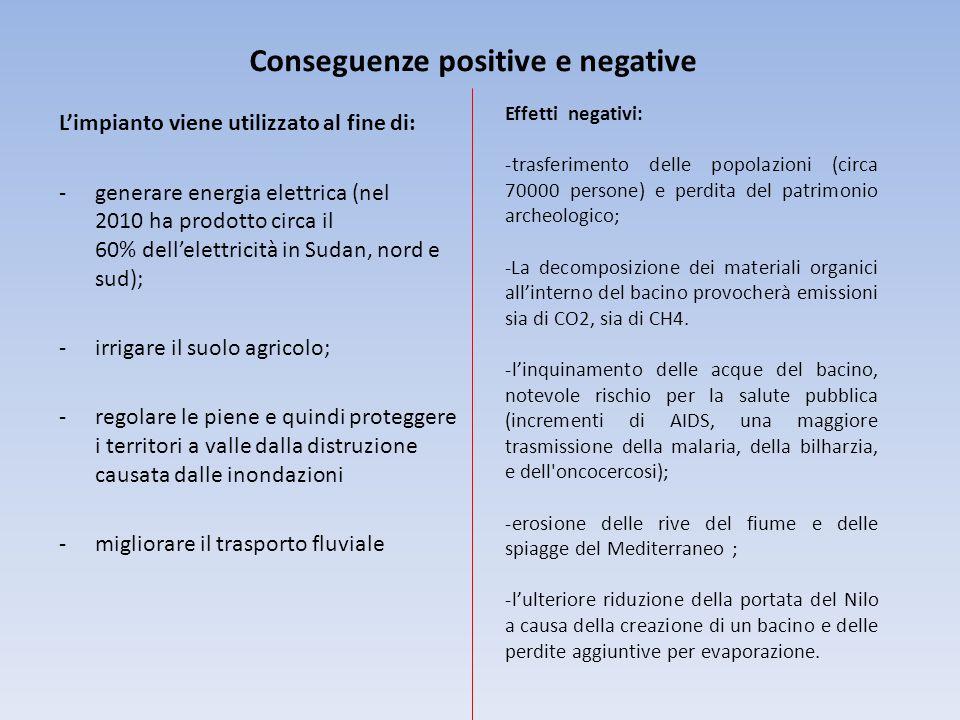 Conseguenze positive e negative