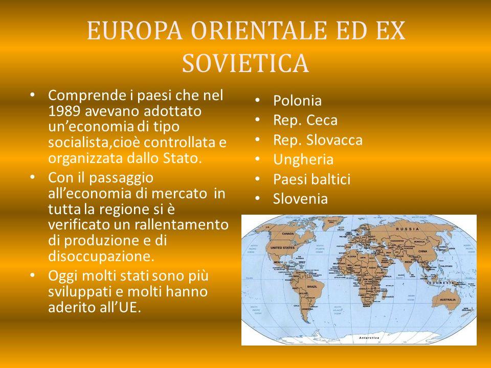 EUROPA ORIENTALE ED EX SOVIETICA