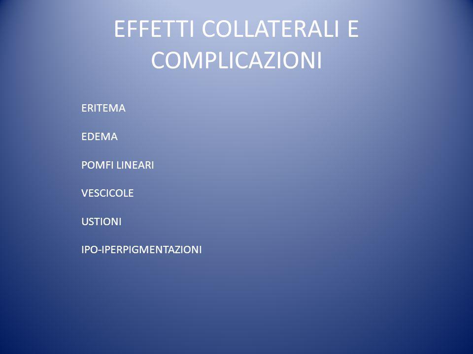 EFFETTI COLLATERALI E COMPLICAZIONI
