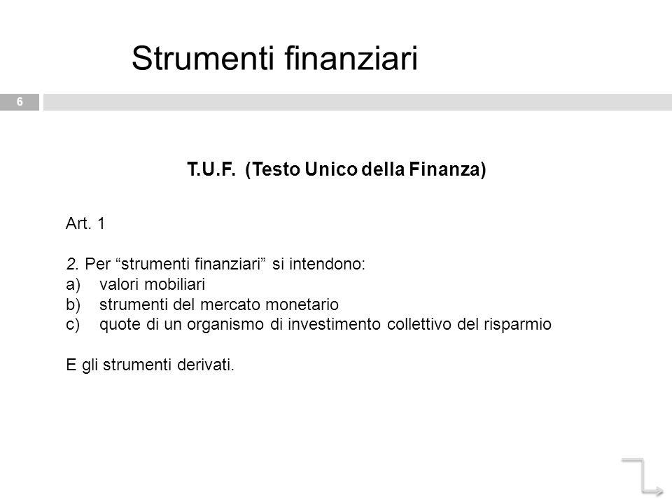 T.U.F. (Testo Unico della Finanza)