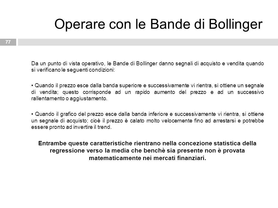 Operare con le Bande di Bollinger