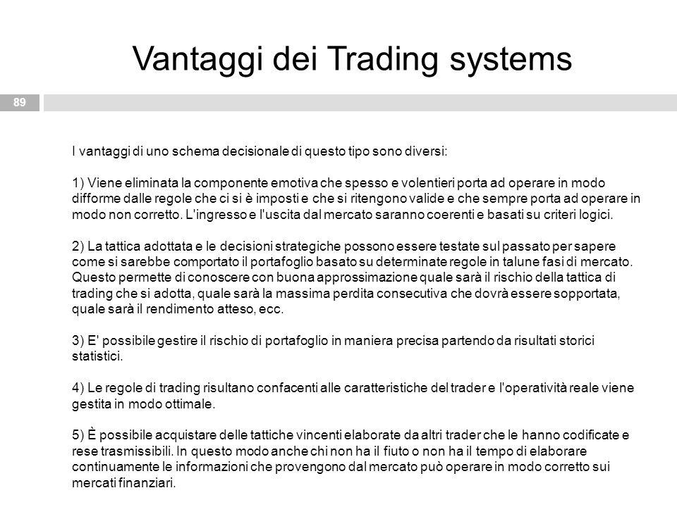 Vantaggi dei Trading systems